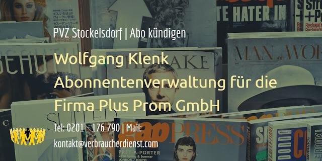 Wolfgang Klenk Abonnentenverwaltung für die Firma Plus Prom GmbH