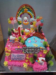 Kue Tart Hello Kitty Mainan Ramai Surabaya - Sidoarjo
