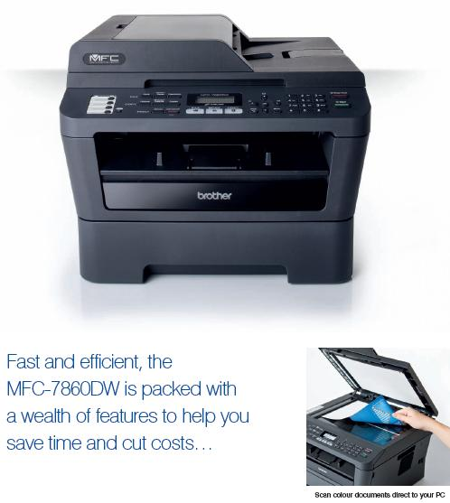 how to scan a document on brother mfc-7860dw