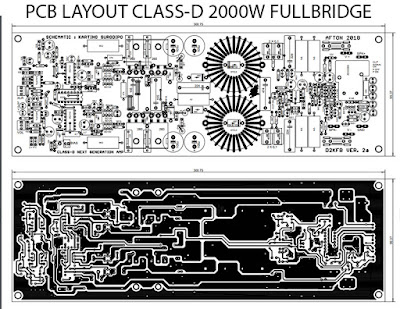 PCB Layout Class-D D2K FB (Full Bridge) 2000W