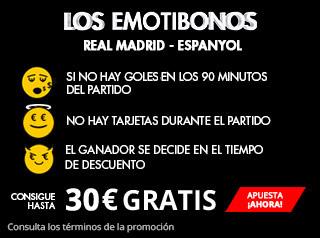 suertia los emotibonos traen dinero Real Madrid vs Espanyol 1 octubre