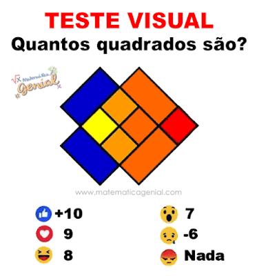 Teste visual: Quantos quadrados são?
