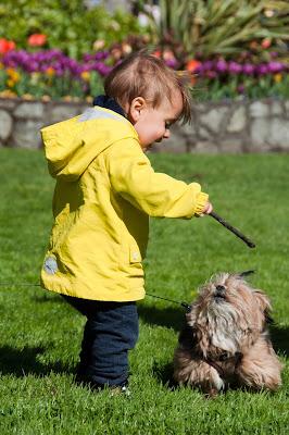 Canadá com bebê e cachorro