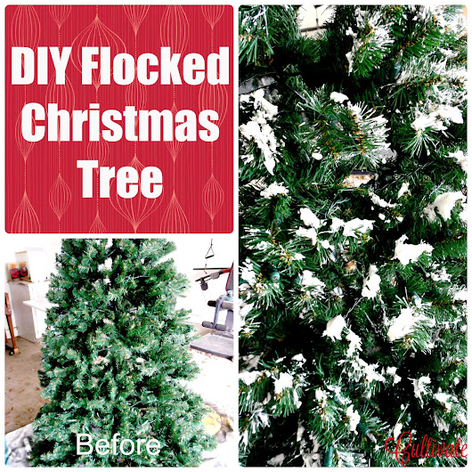 Dare to DIY: Flocked Christmas Tree
