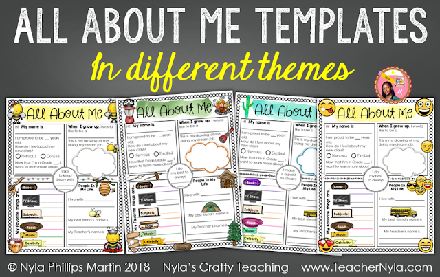 All About Me Writing Templates