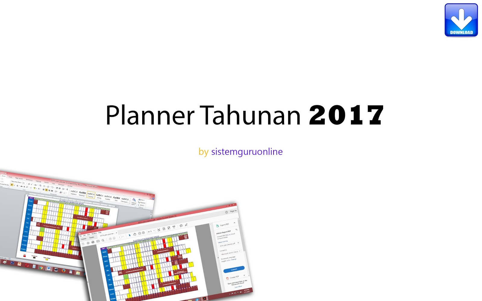 Planner tahunan bagi tahun 2017