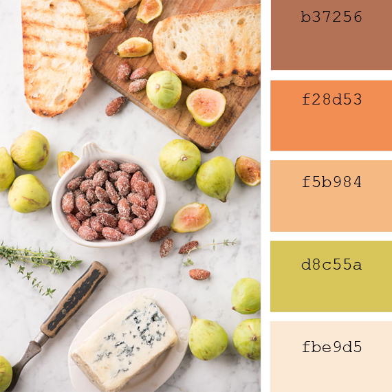 pantone color of the day sunburn palettes
