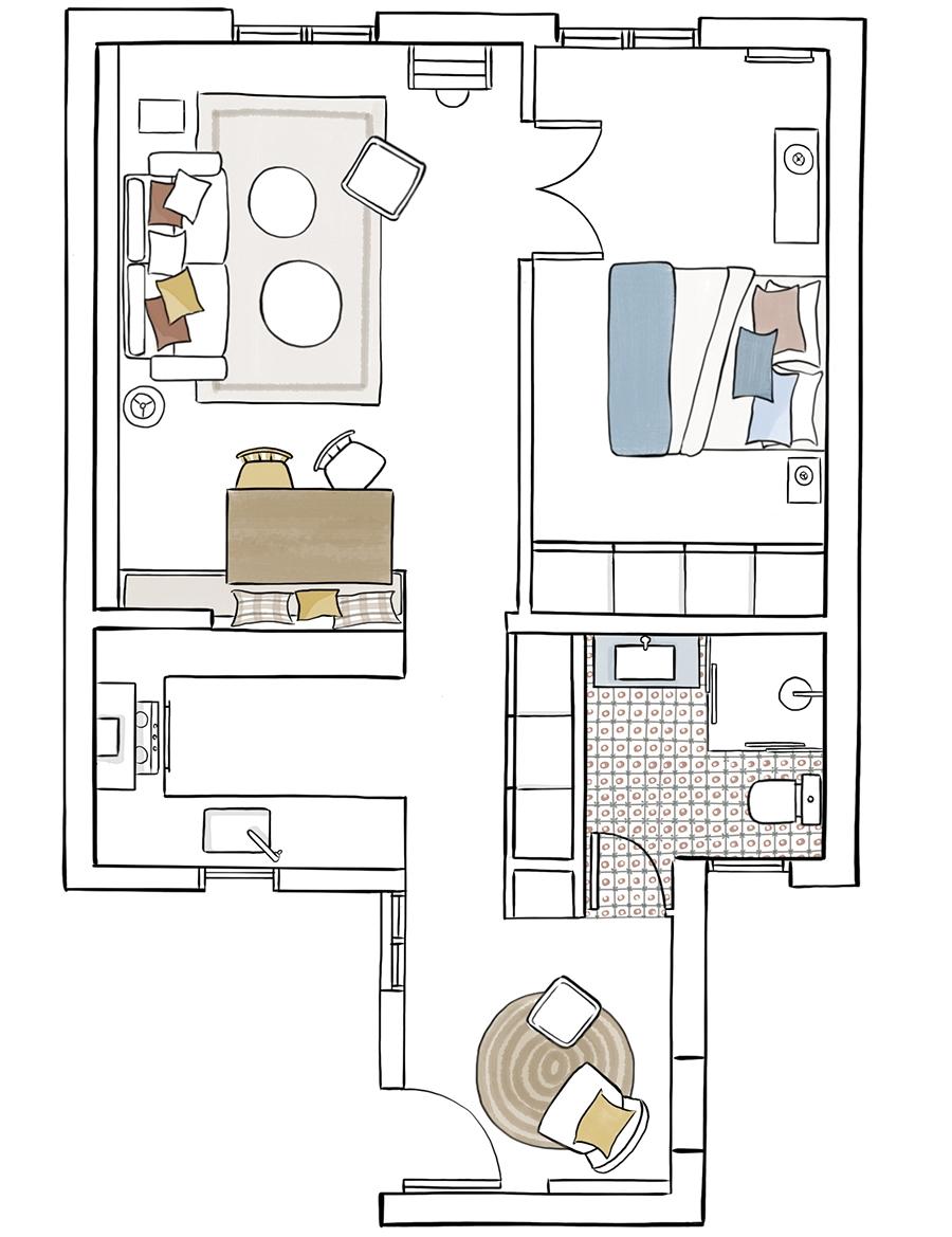 Przytulny apartament z dodatkami w stylu vintage - wystrój wnętrz, wnętrza, urządzanie mieszkania, dom, home decor, dekoracje, aranżacje, styl vintage, vintage, małe mieszkania, jasne wnętrza, drewno