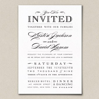 Black Wedding Invitations Funny Invitation Wording