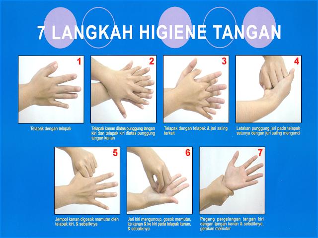 7 Langkah cara cuci tangan
