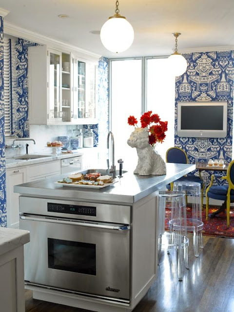 Traditional Home Kitchen: Chinoiserie Chic: One Room Challenge: Creating A