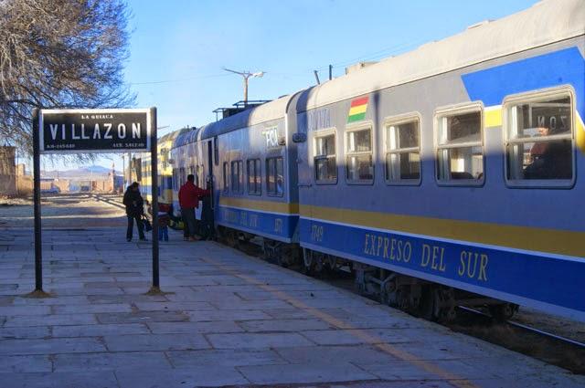 Información viajes en tren desde Villazón a Oruro