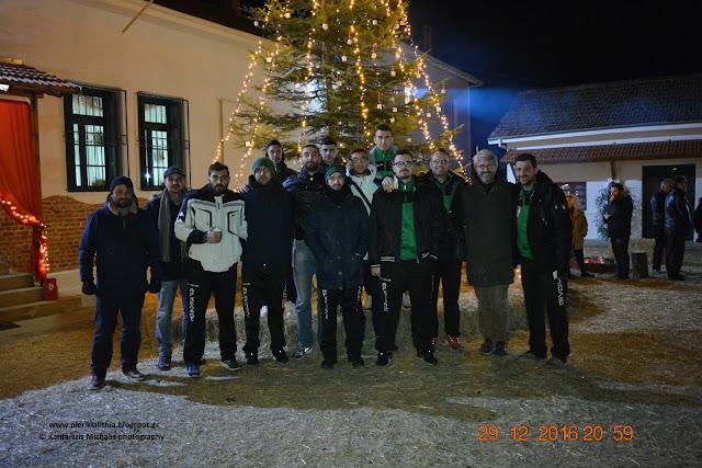 Η ομάδα του Αρχέλαου (πετοσφαίριση) στο Χριστουγεννιάτικο Χωριό του Κόσμου!