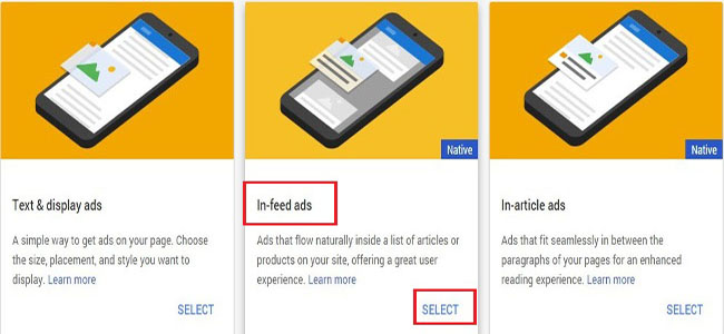 native ads infeed