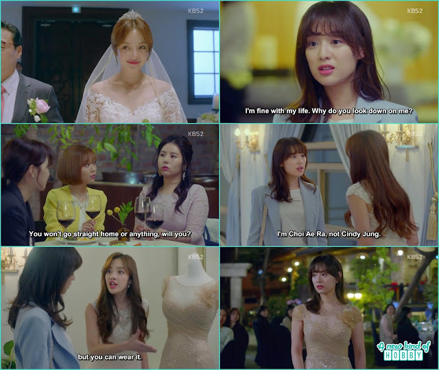 ae ra at her friend chan sook wedding she ask to become cindy jung for the evening and she let her wear this beautiful dress - Fight for my Way: Episode 2 korean drama