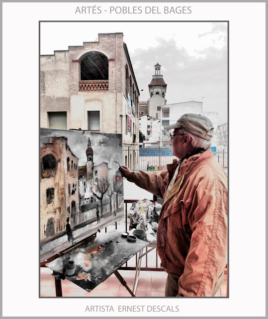 ARTÈS-PINTURA-POBLES-COMARCA-BAGES-PAISATGES-FOTOS-ARTISTA-PINTOR-ERNEST DESCALS-