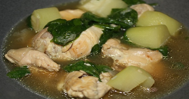 Chicken Soup With Ginger And Chayote Recipe