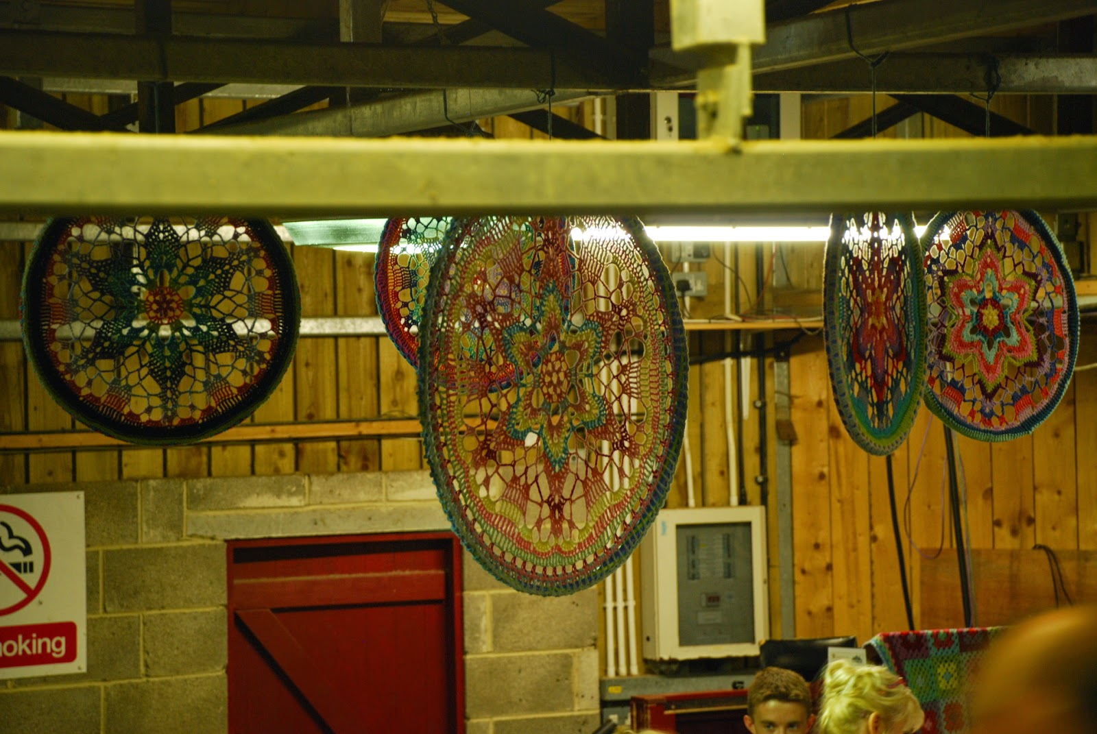 image of large suspended mandalas