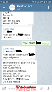 Cara Deposit Pulsa dan Cara Membeli Saldo Pulsa Untuk Dijual Melalui Telegram