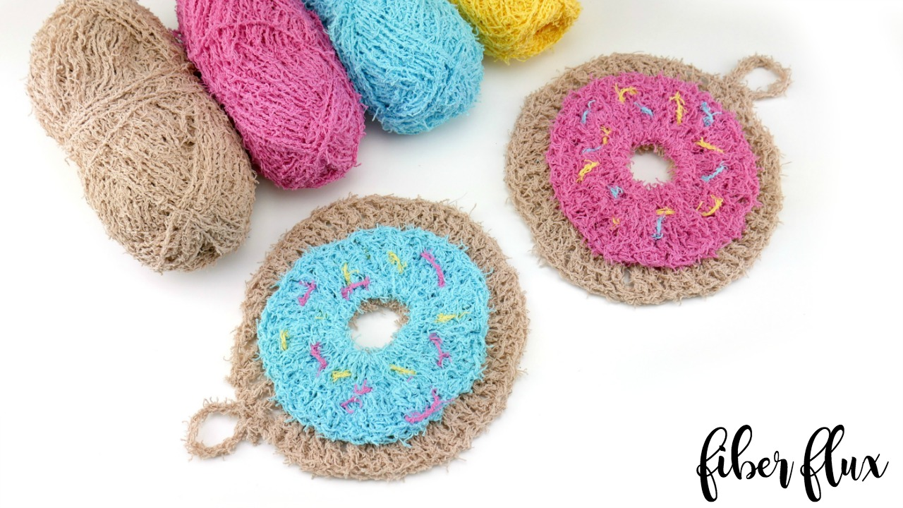 Fiber Flux: Free Crochet Pattern...Donut Scrubby!