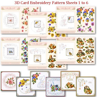 I designed the 3D Card Embroidery Pattern Sheets