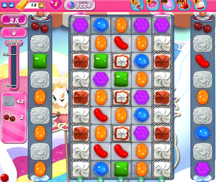 Candy Crush Saga level 2224