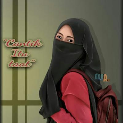DP BBM Wanita Muslimah Taat Bercadar