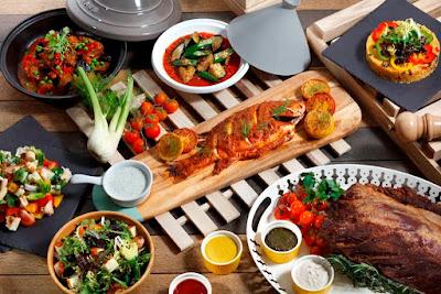 Source: 21 on Rajah. A slice of the Mediterr-Asian Pasar Street Market Dinner Buffet.