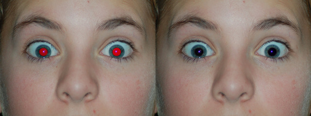 Red eye removal process