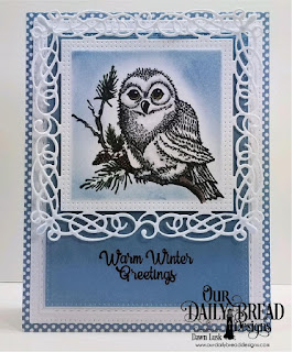 Our Daily Bread Designs Stamp Set: Winter Greetings, Paper Collection: Old Glory, Custom Dies: Pierced Rectangles, Double Stitched Rectangles, Flourishy Frame