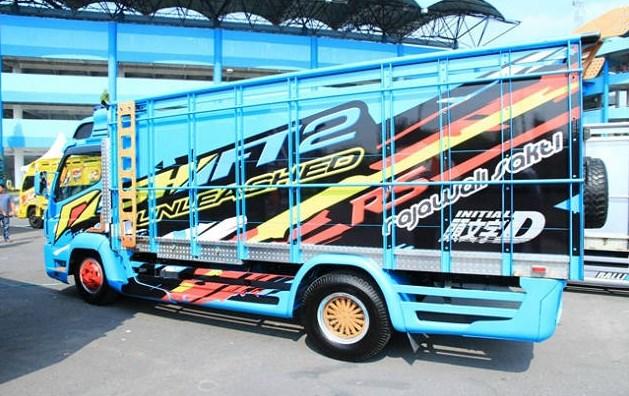 gambar modifikasi mobil truk lampung