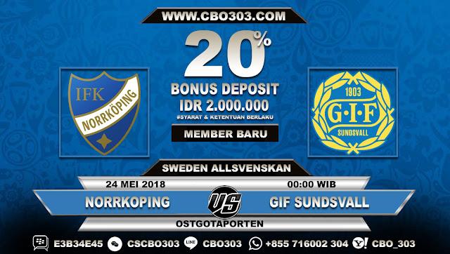 Prediksi Bola Norrkoping VS GIF Sundsvall 24 Mei 2018