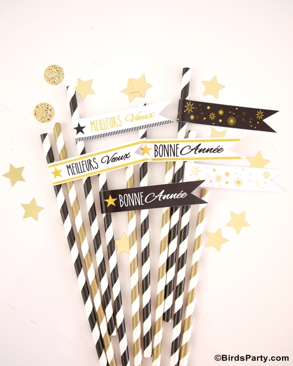 Black white gold new year 39 s eve party ideas party - Deco table reveillon nouvel an ...