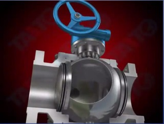 internal architecture of ball valve