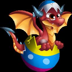 Aparência de adolescente Dragão Ovoide