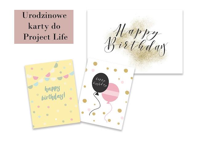 Urodzinowe karty do Project Life