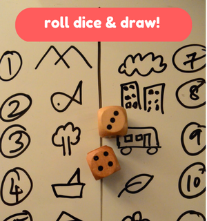 Printable Games by Practical Mom: Roll the dice & Draw