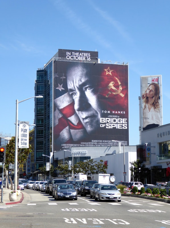 Giant Bridge of Spies movie billboard