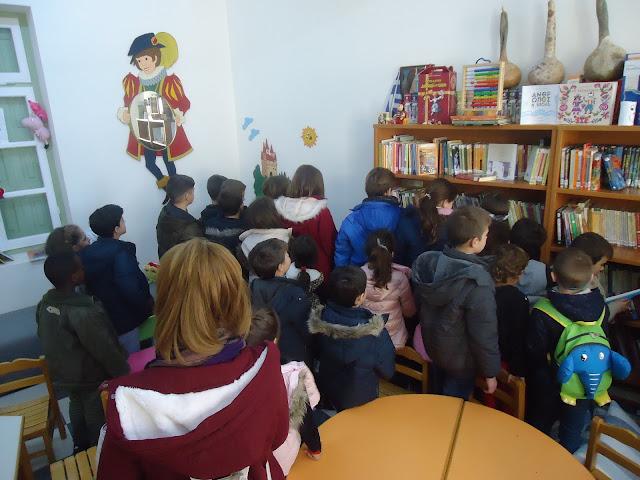 Επίσκεψη του Δημοτικού σχολείου Διδύμων στη Δημοτική Βιβλιοθήκη Κρανιδίου