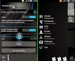 BBM Dark Windows for Gingerbread