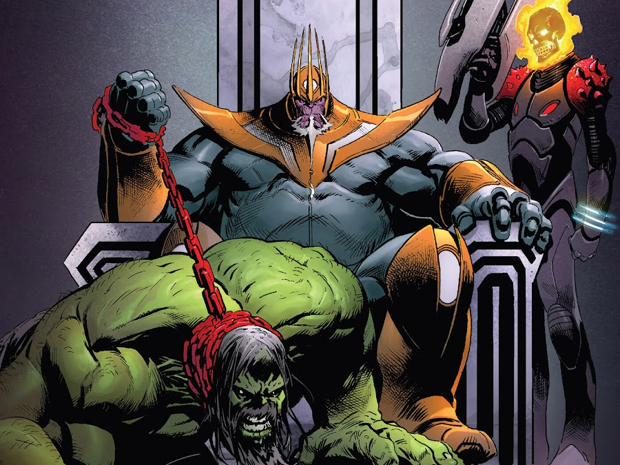 marvel comics thanos ghost rider hulk