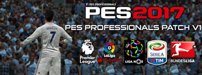 Patch PES 2017 Terbaru dari Professional Patch V1 AIO