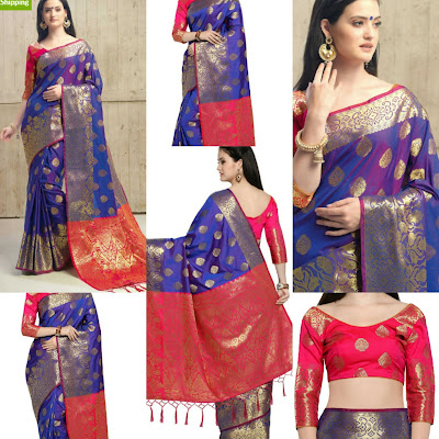 Banarasi Silk Pattu Saree - Vastra Fashion