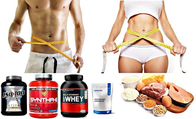 Proteínas y suplementos en polvo para quemar grasa