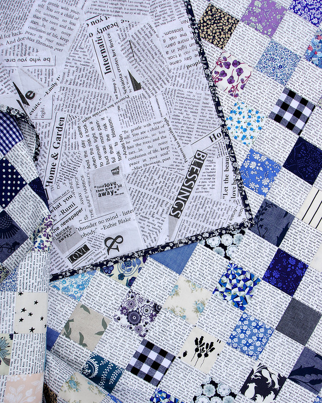 Liberty Tana Lawn - Blues Quilt   © Red Pepper Quilts 2016