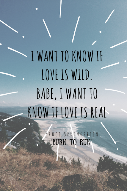I want to know if love is wild, babe I want to know if love is real