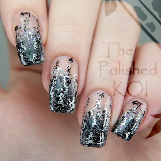 Fancy French Tip nail art