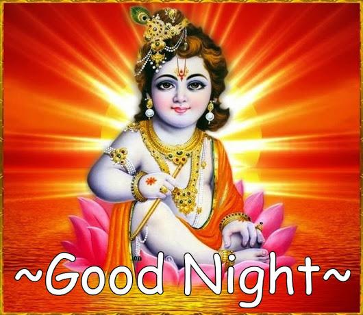 Lord Krishna Good Night Image