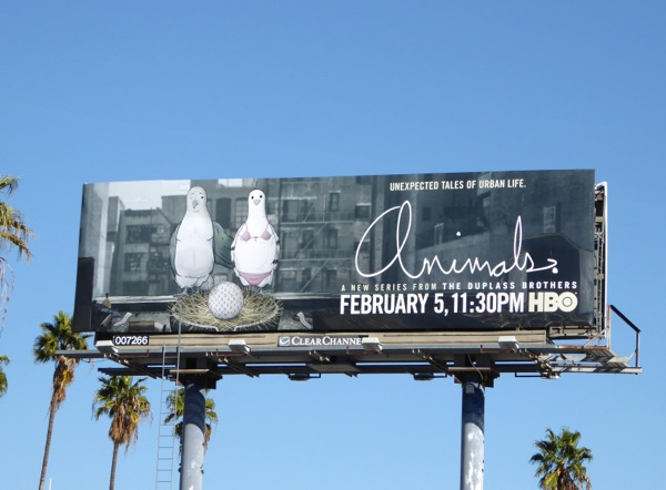 Animals series premiere Pigeons billboard