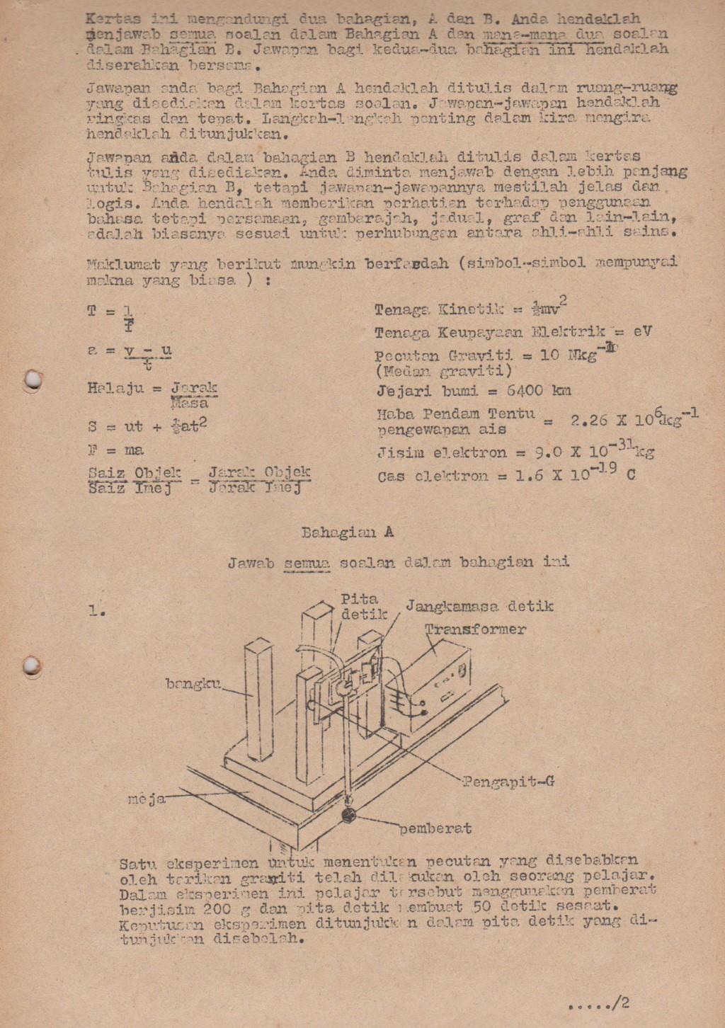 Percubaan SPM Kertas 2 1990  Fizik Moden